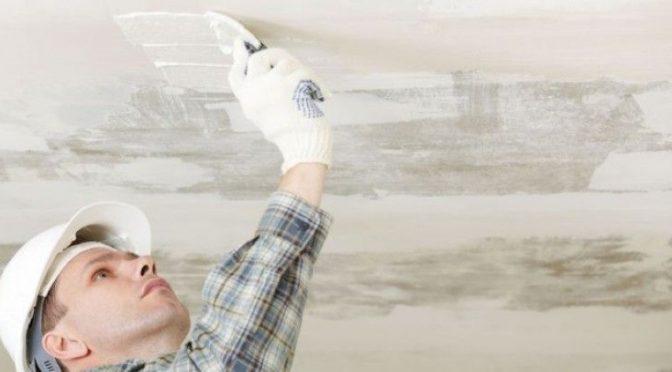 Как оштукатурить потолок
